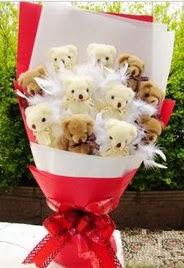 11 adet ayi buketi en güzel hediye  Balgat ucuz çiçek gönder