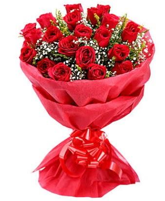 21 adet kırmızı gülden modern buket  Balgat çiçek gönderme sitemiz güvenlidir