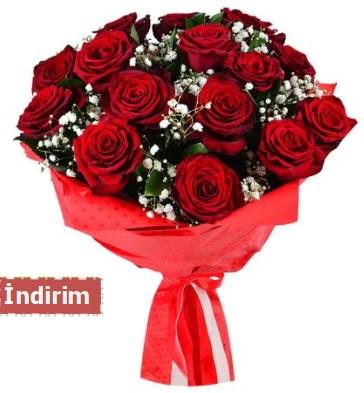 12 Adet kırmızı aşk gülleri  çiçek satışı ankara balgat çiçekçi