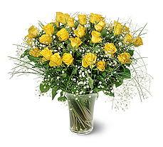 Ankara internetten çiçek satışı  15 adet sarigül mika yada cam vazoda