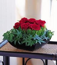 Ankara internetten çiçek satışı  10 adet kare mika yada cam vazoda gül tanzim