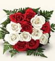 Ankara çiçekçiler hediye çiçek yolla  10 adet kirmizi beyaz güller - anneler günü için ideal seçimdir -