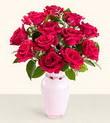 Balgat Ankara uluslararası çiçek gönderme  10 kirmizi gül cam yada mika vazo tanzim
