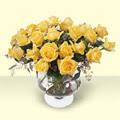 Balgat Ankara çiçek gönderme  11 adet sari gül cam yada mika vazo içinde