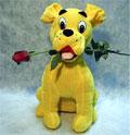köpek ve agzinda  gül   Balgat çiçek yolla , çiçek gönder , çiçekçi