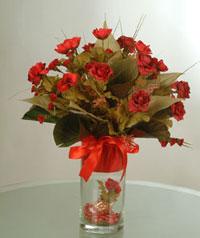 yapay güllerden vazo  9 gül  Balgat ucuz çiçek gönder