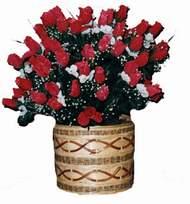 yapay kirmizi güller sepeti  ww26w
