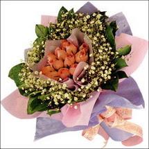 11  adet  gül ve   elyaflar   Ankara Balgat online internetten çiçek siparişi