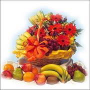 sepette kir çiçekleri meyva   Ankara Balgat online internetten çiçek siparişi