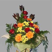 karisik güllerden buketlik   Balgat çiçek gönderme sitemiz güvenlidir