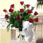 9 adet kirmizi gül    Ankara çiçekçiler hediye çiçek yolla
