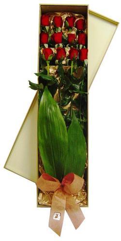 Ankara Balgat online internetten çiçek siparişi  görsel bir kutu içerisinde 12 adet kalite gül