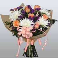 güller ve kir çiçekleri demeti   Ankara çiçekçi mağazası