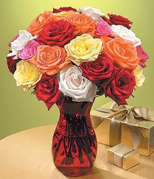 hediye sevgilime hediye çiçek  13 adet renkli gül
