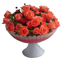 Balgat ucuz çiçek gönder  cam vazo içinde güller