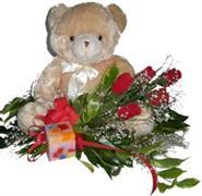 Balgat online çiçek siparişi vermek  5 adet gül , mum ve ayicik sevdiklerinize özel