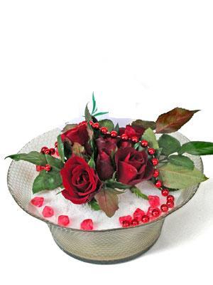 Balgat Ankara online çiçek gönderme sipariş  EN ÇOK Sevenlere 7 adet kirmizi gül mika yada cam tanzim