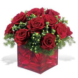 Balgat online çiçekçi telefonları  9 adet kirmizi gül cam yada mika vazoda