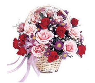 Ankara çiçekçi mağazası  Karisik gül sepeti 13 adet gül güller