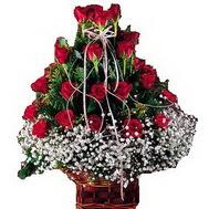 hediye sevgilime hediye çiçek  12 gülden essiz sepet tanzimi