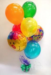 balgat çiçek siparişi Ankara çiçek yolla  17 adet uçan balon ve küçük kutuda çikolata