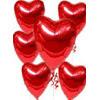 Ankara 14 şubat sevgililer günü çiçek  17 adet FOLYO kalp görünümünde uçan balon