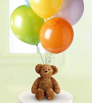 Balgat online çiçek siparişi vermek  15 adet karisik renkte uçan balon ayicik