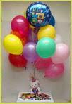 hediye sevgilime hediye çiçek  25 adet uçan balon ve 1 kutu çikolata hediye