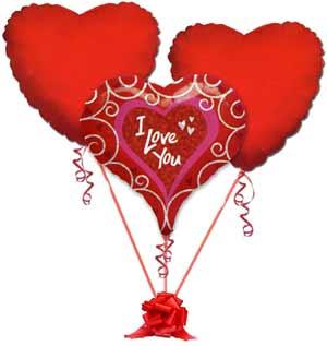 Balgat online çiçek siparişi vermek  3 adet büyük boy kalp uçan balon