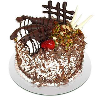 4 ile 6 kisilik çikolatali yas pasta ww26w