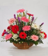Sepet içerisinde karisik kokulu çiçekler  Ankara çiçek servisi , çiçekçi adresleri