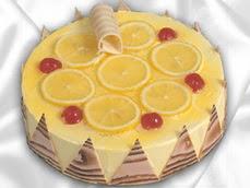 taze pastaci 4 ile 6 kisilik yas pasta limonlu yaspasta  Balgat online çiçek siparişi vermek