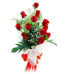 11 adet kirmizi güllerden görsel sölen buket  Balgat Ankara online çiçek gönderme sipariş