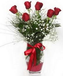 7 adet gülden cam içerisinde güller  Balgat Ankara çiçek online çiçek siparişi
