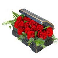 Sandik içerisinde 21 adet kirmizi gül  Ankara internetten çiçek satışı