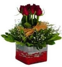Balgat çiçek gönderme sitemiz güvenlidir  7 adet mika yada cam vazoda gül tanzimi