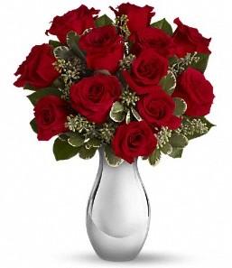 Balgat Ankara online çiçek gönderme sipariş   vazo içerisinde 11 adet kırmızı gül tanzimi