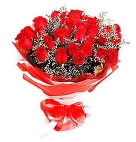 Balgat Ankara kaliteli taze ve ucuz çiçekler  12 adet kırmızı güllerden görsel buket