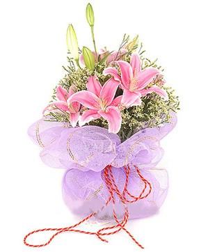 3 dal kazablanka görsel buketi  Balgat Ankara çiçek siparişi sitesi