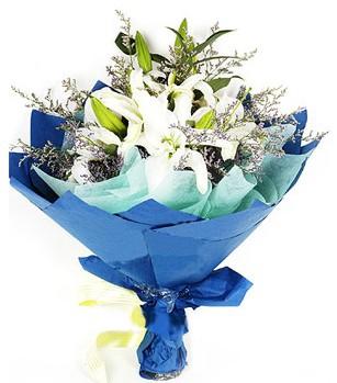 hediye sevgilime hediye çiçek  4 adet dal kazablankadan görsel buket