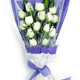 Ankara Balgat online internetten çiçek siparişi  11 adet beyaz gül buket modeli