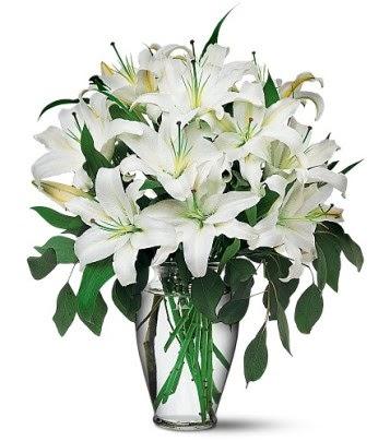 Balgat Ankara çiçek siparişi sitesi  4 dal kazablanka ile görsel vazo tanzimi