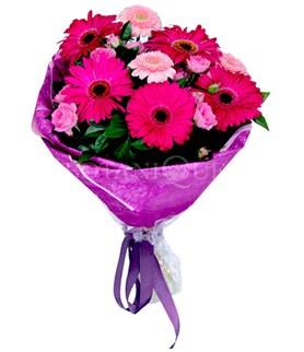 Ankara internetten çiçek satışı  karışık gerbera çiçeği buketi
