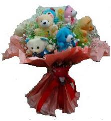 Balgat ucuz çiçek gönder  12 li ayı buketi görsel bir buket halinde
