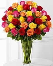 33 adet rengarenk karışık güller