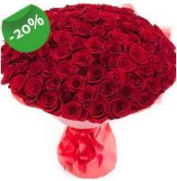 Özel mi Özel buket 101 adet kırmızı gül  hediye sevgilime hediye çiçek