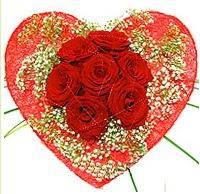 Mika kalp içerisinde 7 adet kırmızı gül  Ankara Balgat online internetten çiçek siparişi
