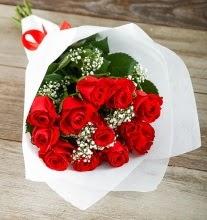 9 kırmızı gülden buket çiçeği  Balgat çiçek gönderme sitemiz güvenlidir