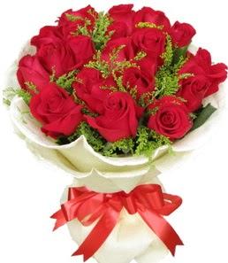 19 adet kırmızı gülden buket tanzimi  Ankara çiçek servisi , çiçekçi adresleri