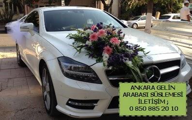 Ankara gelin araba süsü süslemesi  Balgat Ankara kaliteli taze ve ucuz çiçekler
